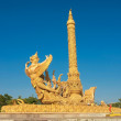 Statue of Thai architecture. - Stock Photo