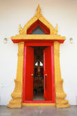 The beautiful temple door — Stock Photo