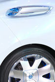 Close up Zero Emission NISSAN NEW — Stock Photo