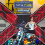 Honda present motorbike 2012 — Stock Photo