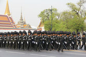 Center full-dress procession (The Royal Field) — Stock Photo