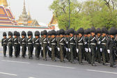 Soldier full-dress procession thailand — Stock Photo