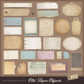 Digital scrapbooking kit: old paper — Stock vektor