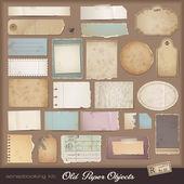 Digitální scrapbooking kit: starý papír — Stock vektor
