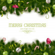 Holiday background or greeting card - Stock Vector
