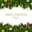 Holiday background or greeting card - Imagen vectorial