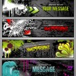 Stock Vector: Graffiti banners