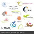 Vector de stock : Vector icons: animals and nature