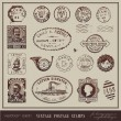 Vector set: vintage postage stamps — Vector de stock