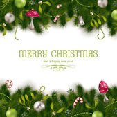 Holiday background or greeting card — Vector de stock