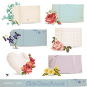 Floral paper banners — Vettoriale Stock