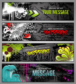 Banderas de graffiti — Vector de stock