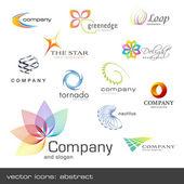 Vektorové ikony: abstraktní — Stock vektor