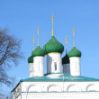 Stock Photo: Green cupolas in winter