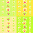 Pattern with pink hearts — Stock Vector