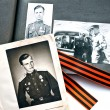 Russian photo albums of times of the Second World War — Stock Photo
