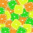 Stock Vector: Citrus background