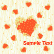 Stock Vector: Some red hearts