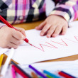 Child's hand is writing MAMA — Stock Photo #10009270