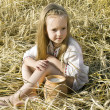 Child in a field - Stock Photo