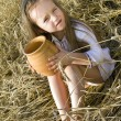 Child in a field — Stock Photo #10418538