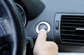 Start and Stop, Hand, Car. — Stock Photo