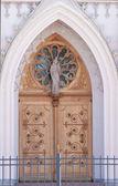 A porta da igreja — Foto Stock