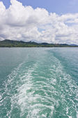 Waves from the boat. — Stock Photo