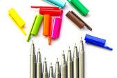 色付きのペン. — ストック写真