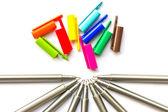 Kolorowe długopisy. — Zdjęcie stockowe