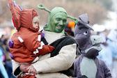 Carnival in Velika Gorica - Topics Shrek — Stock Photo