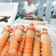 Shrimp in the fish market — Stock Photo