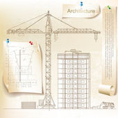 Architecturale achtergrond (vector) — Stockvector