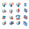 Vector de stock : Web Icon Set, Isolated on White Background