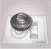 Wheel gear. Vector clip-art — Stock Vector