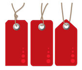 3 red tags, vector — Stock Vector