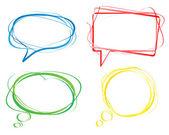 Bolhas de linguagem colorida, vetor — Vetorial Stock