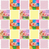 Wall-paper from roses — Stock Vector