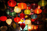Colorful lanterns at market street,Hoi An, Vietnam — Stock Photo