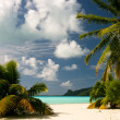 Infinity tropical beach on Maupiti, French Polynesia, Society Islands — Stock Photo #10143547