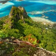 Stock Photo: Mountain peak, Maupiti, French Polynesia
