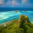 Stock Photo: View on peak mountain, Maupiti, French Polynesia, Society Islands