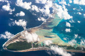 View of one of the Tuamotu Atoll, French Polynesia — Stock Photo