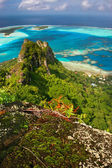 Mountain peak, Maupiti, French Polynesia — Foto de Stock