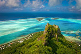 View on the peak mountain, Maupiti, French Polynesia, Society Islands — Stock Photo
