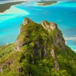 Foto Stock: Mountain peak, Maupiti, French Polynesia
