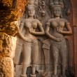 Ancient Stone Carvings in the temple, Angkor Wat, Cambodia — Stock Photo