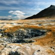 Colorful landscape view of geothermal activity, Iceland - Stock Photo