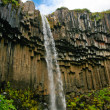 View of Svartifoss waterfall , Iceland - Stock Photo