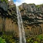 Widok wodospad svartifoss, Islandia — Zdjęcie stockowe